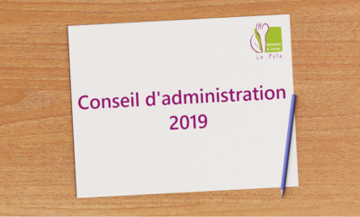 Conseil d'administration 2019